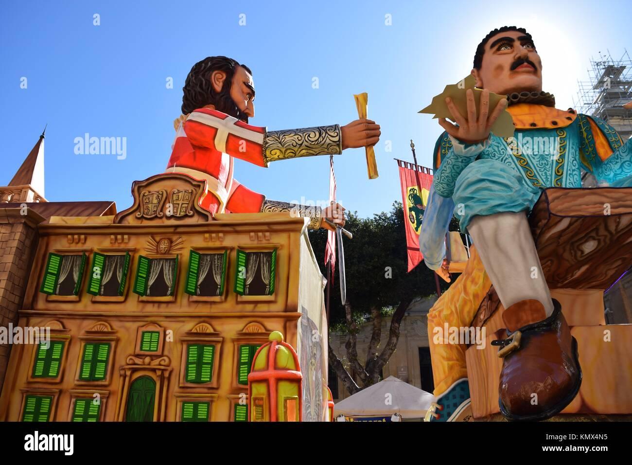 Royal float servants castle carnival - Stock Image