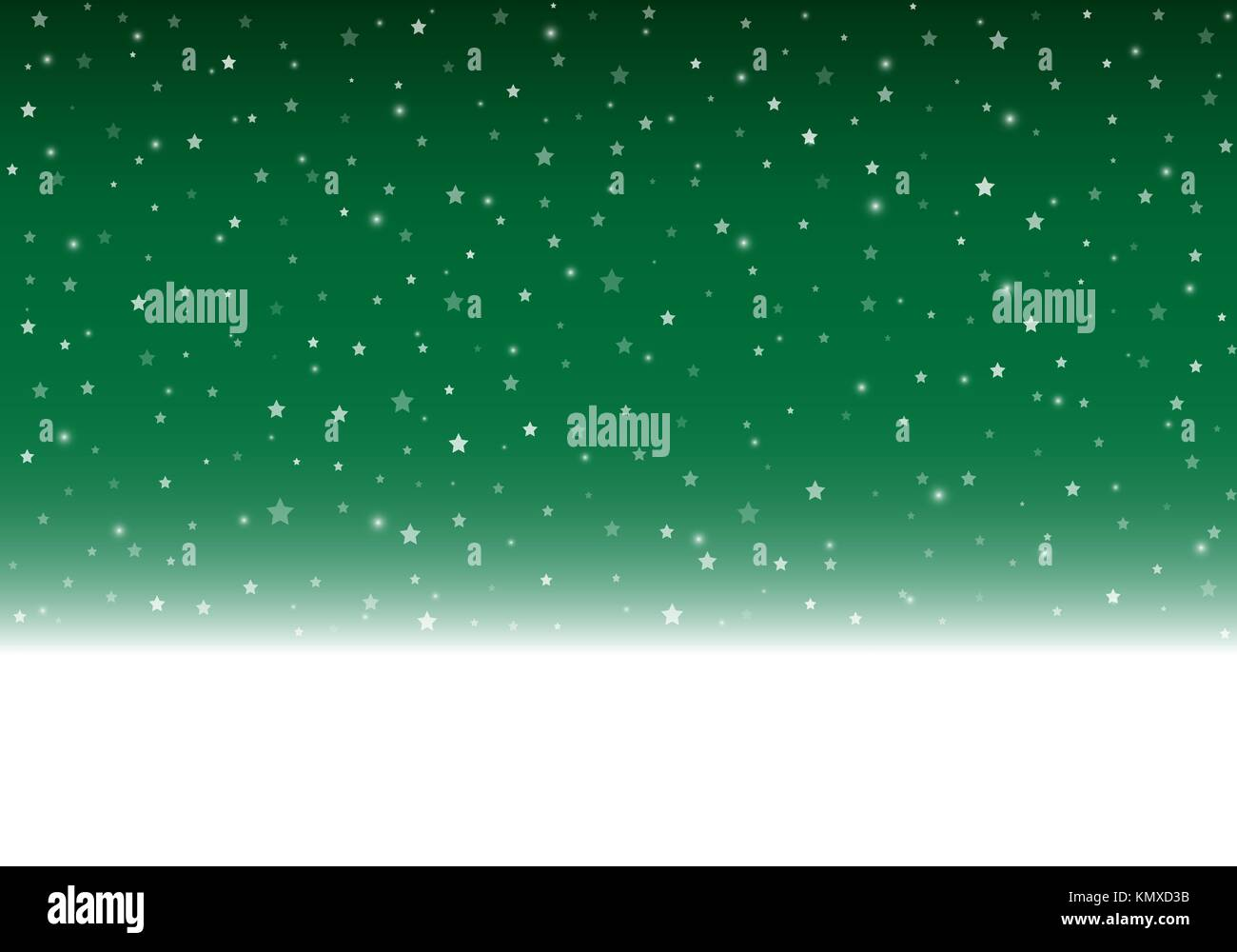 Vector green winter background with copy space. - Stock Vector