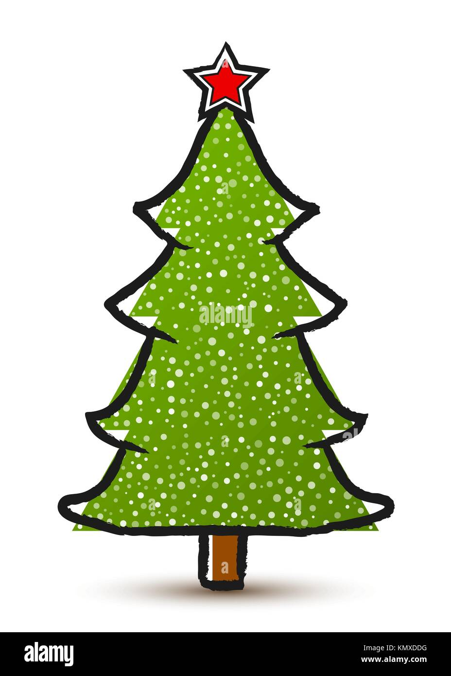 Abstract Christmas Tree Simple Drawing Stock Photos & Abstract ...