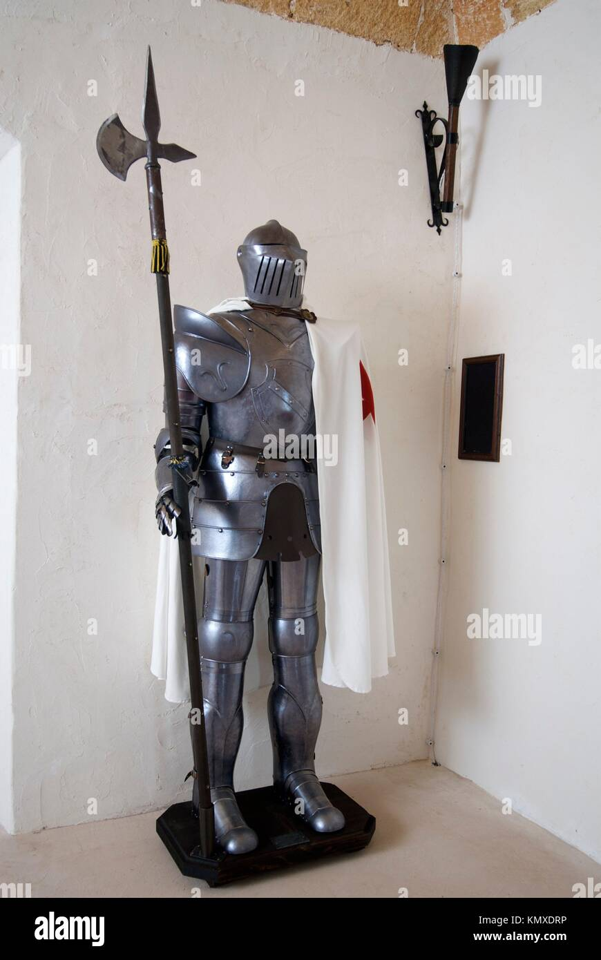 Fake Medieval armour, used as decoration in a private home - Stock Image