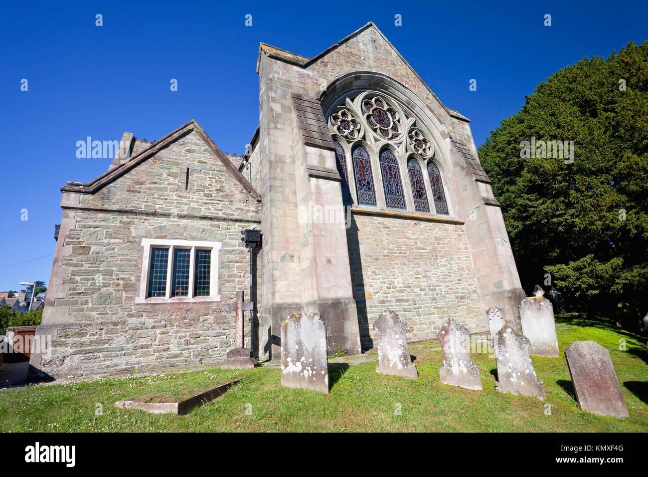 England Devon Salcombe Holy Trinity Church Northeast end - Stock Image