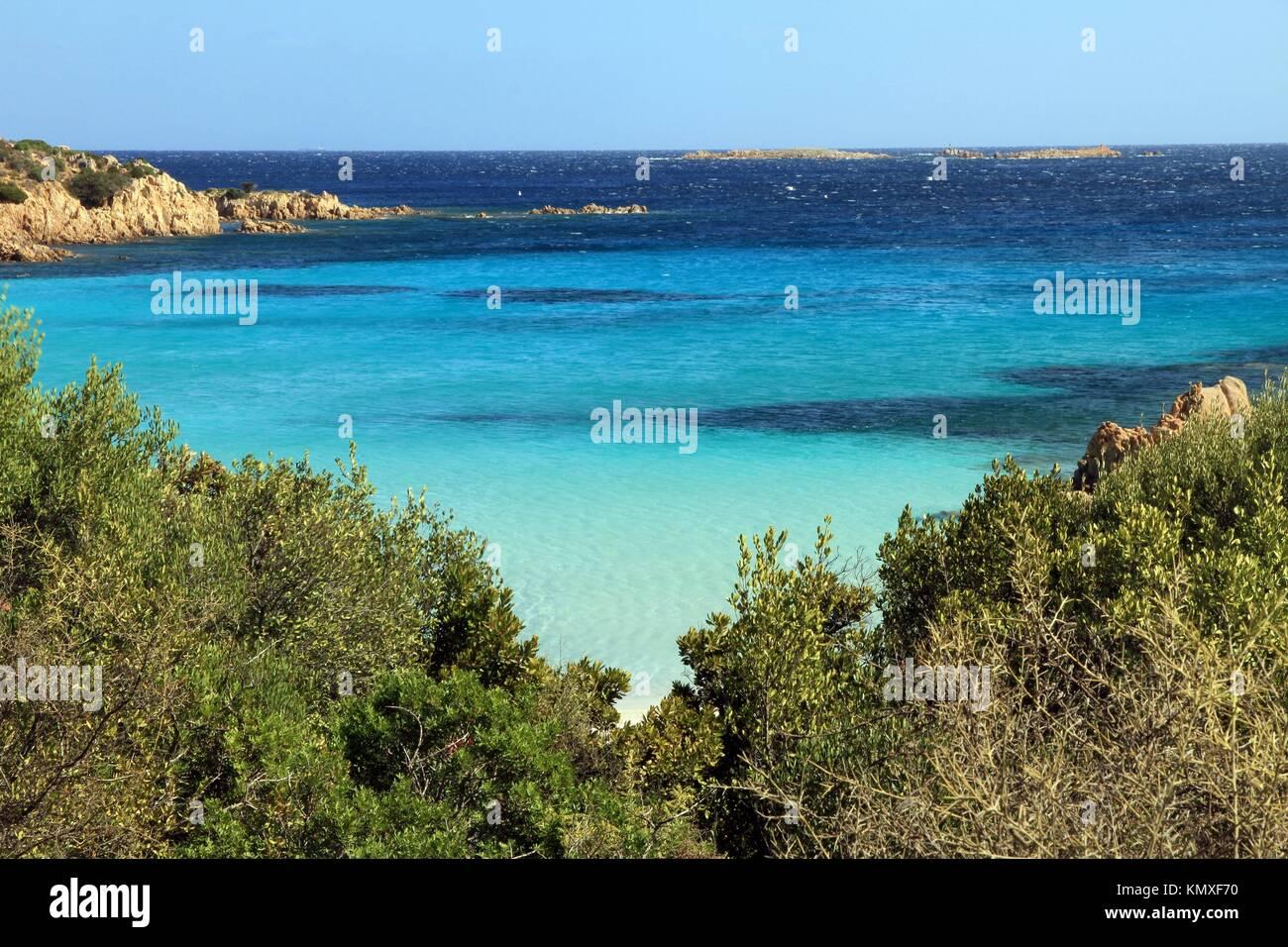 Smerald coast, Principe cove in Arzachena, Olbia province, Sardinia island, Italy - Stock Image