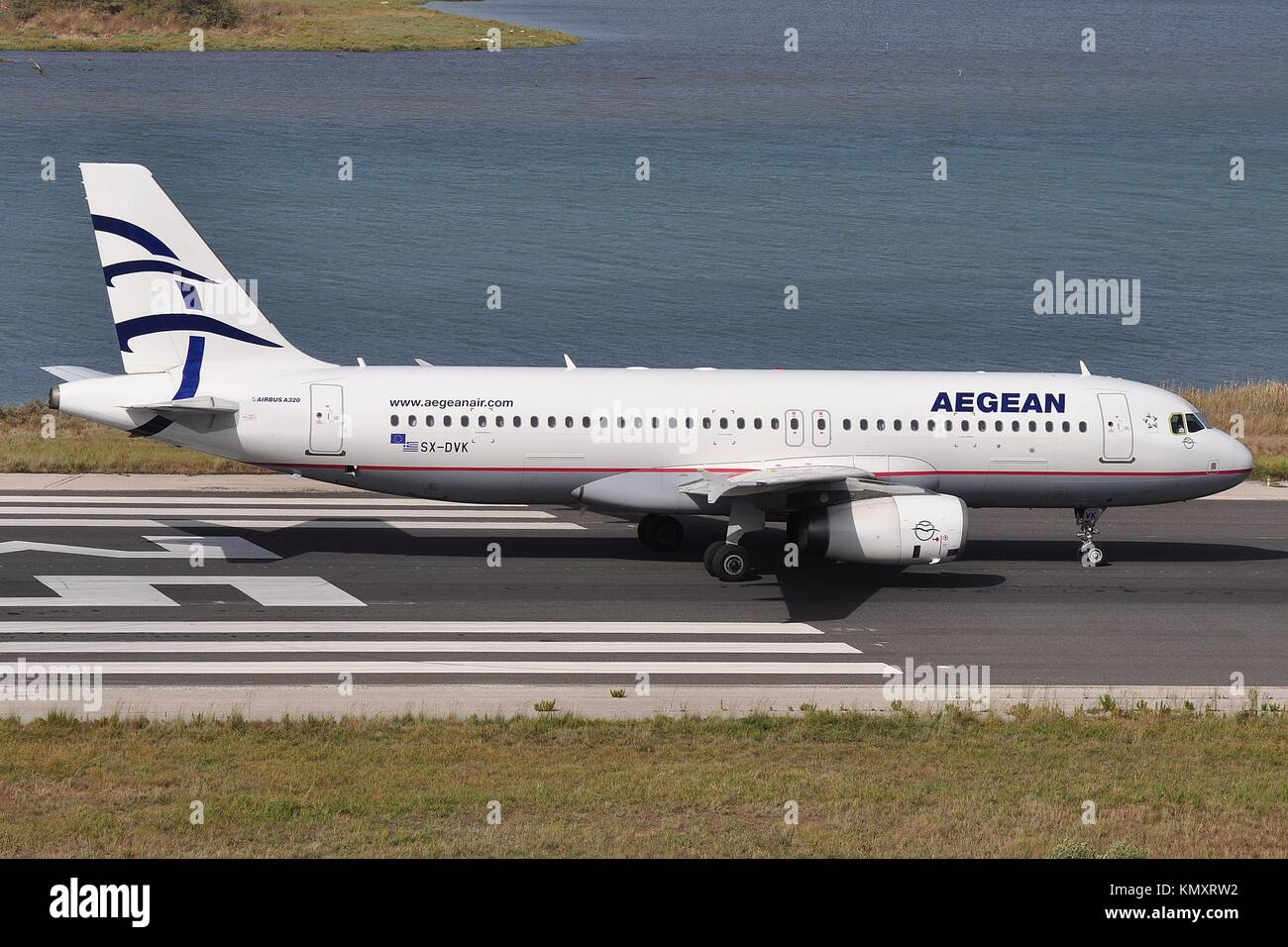 AEGEAN AIRLINES A320-200 SX-DVK - Stock Image