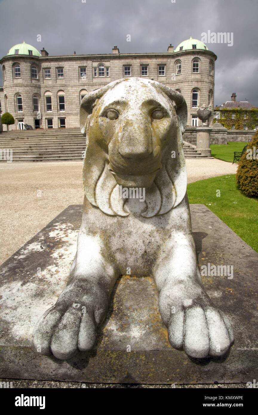 classic statue at a park next to dublin - Stock Image