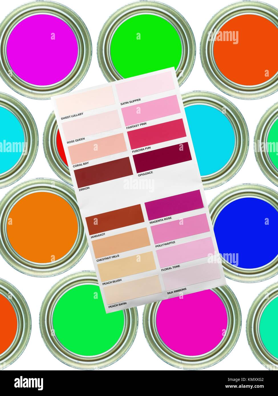 A Cmyk Color Chart Stock Photos A Cmyk Color Chart Stock Images
