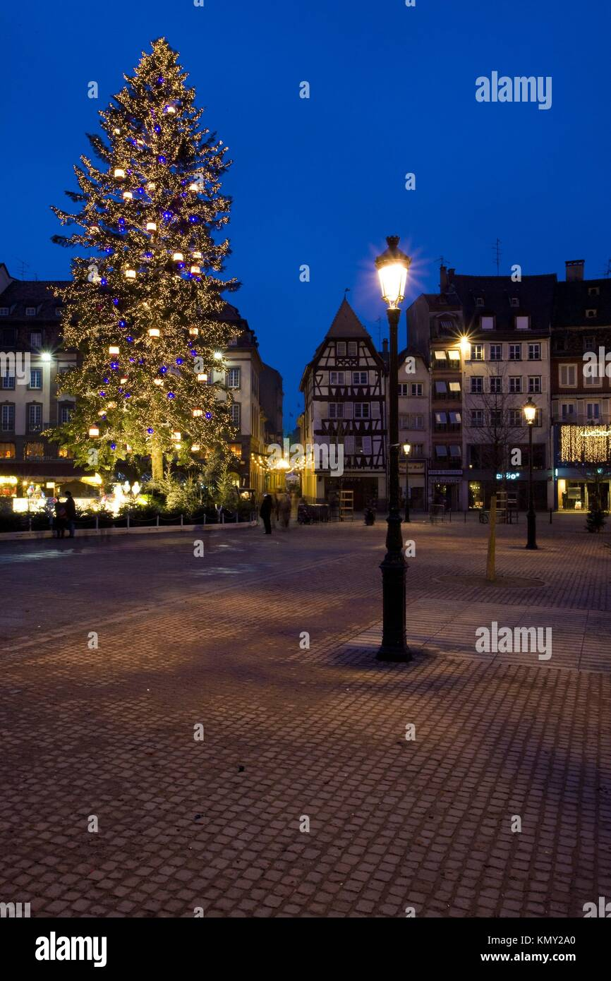 Strasbourg France Christmas Time.Place Broglie Christmas Time In Strasbourg Alsace France