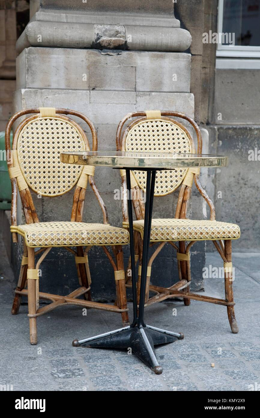 Cafe Chairs In Paris, France   Stock Image