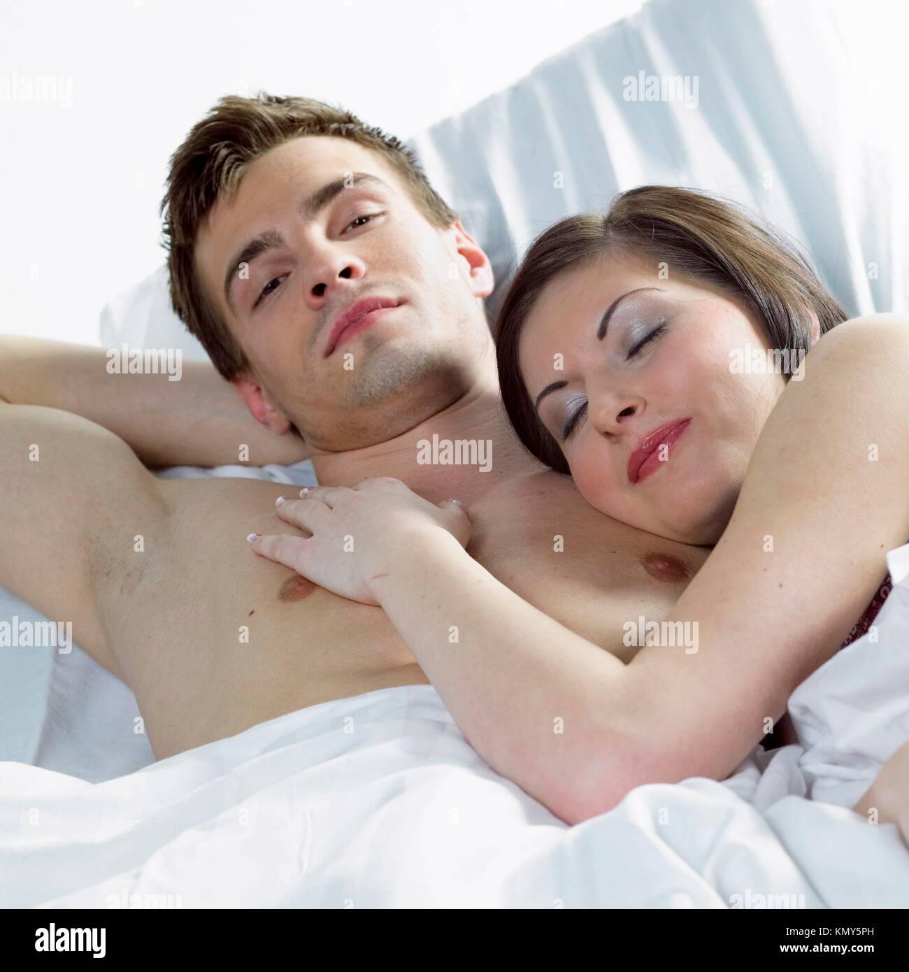 couple in ben - Stock Image