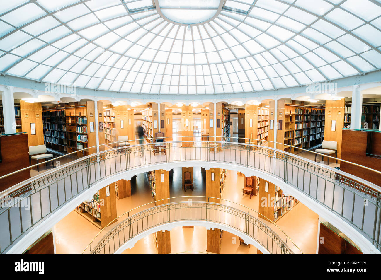 Helsinki, Finland. Interior Of The National Library Of Finland. Stock Photo