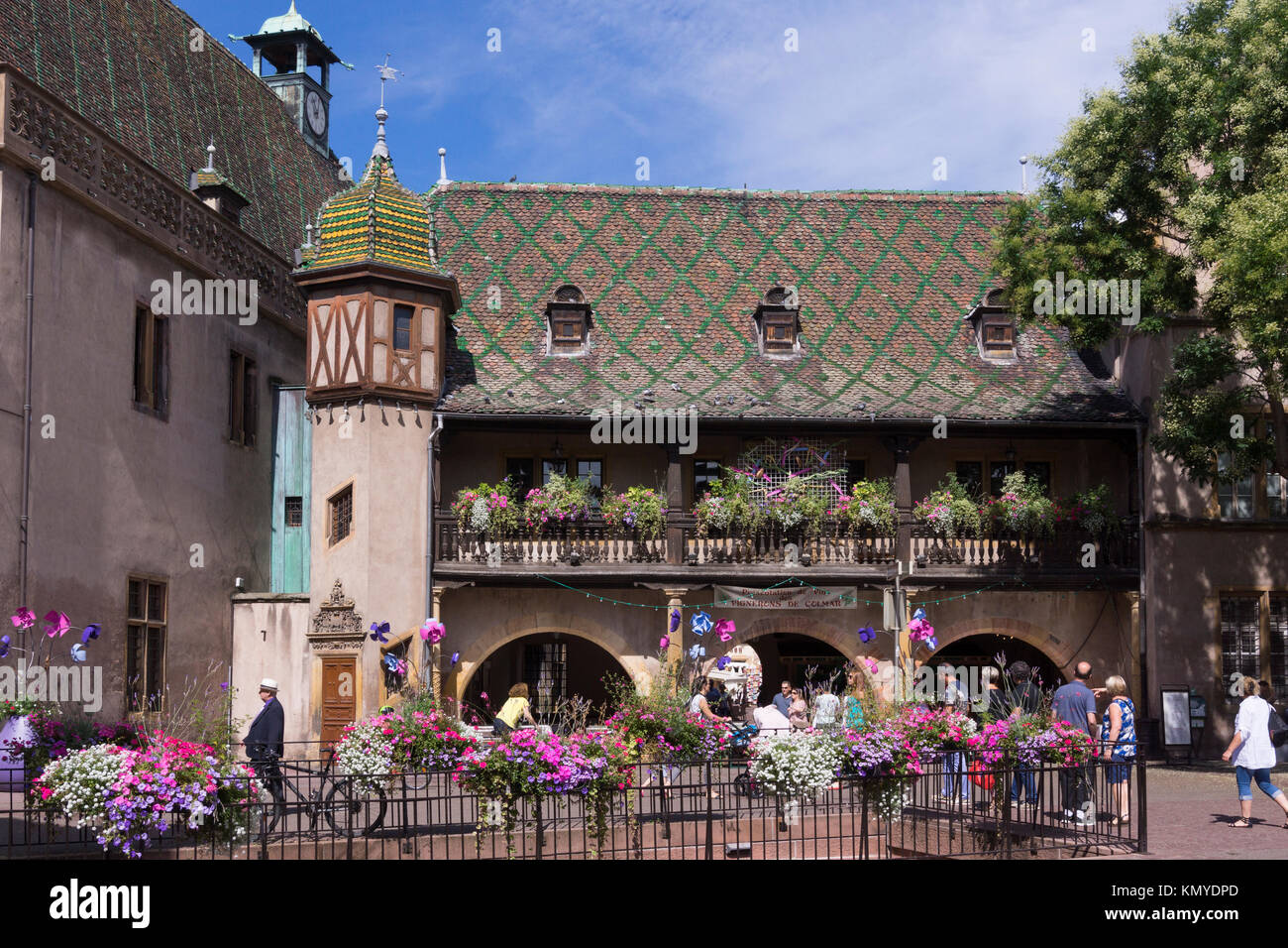 The Renaissance style former customs house (l'Ancienne Douane) in Colmar - Stock Image