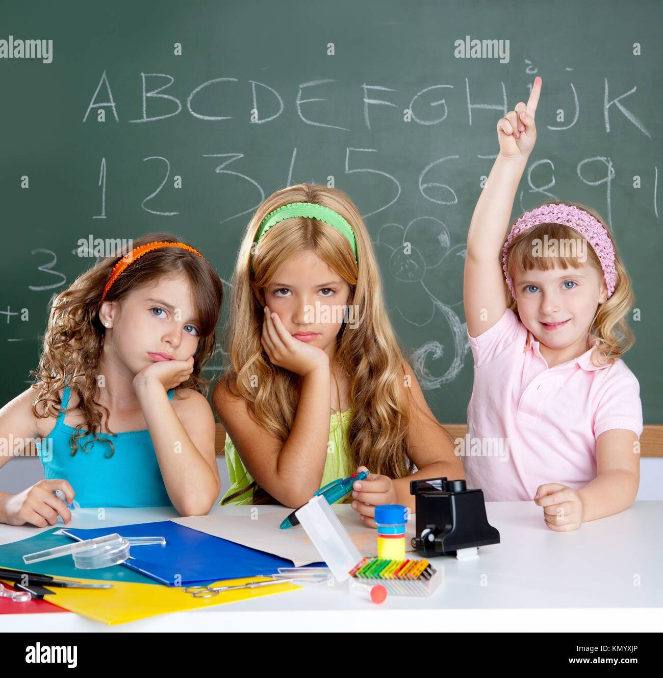 Clever School Girl: Boring College Classroom Stock Photos & Boring College