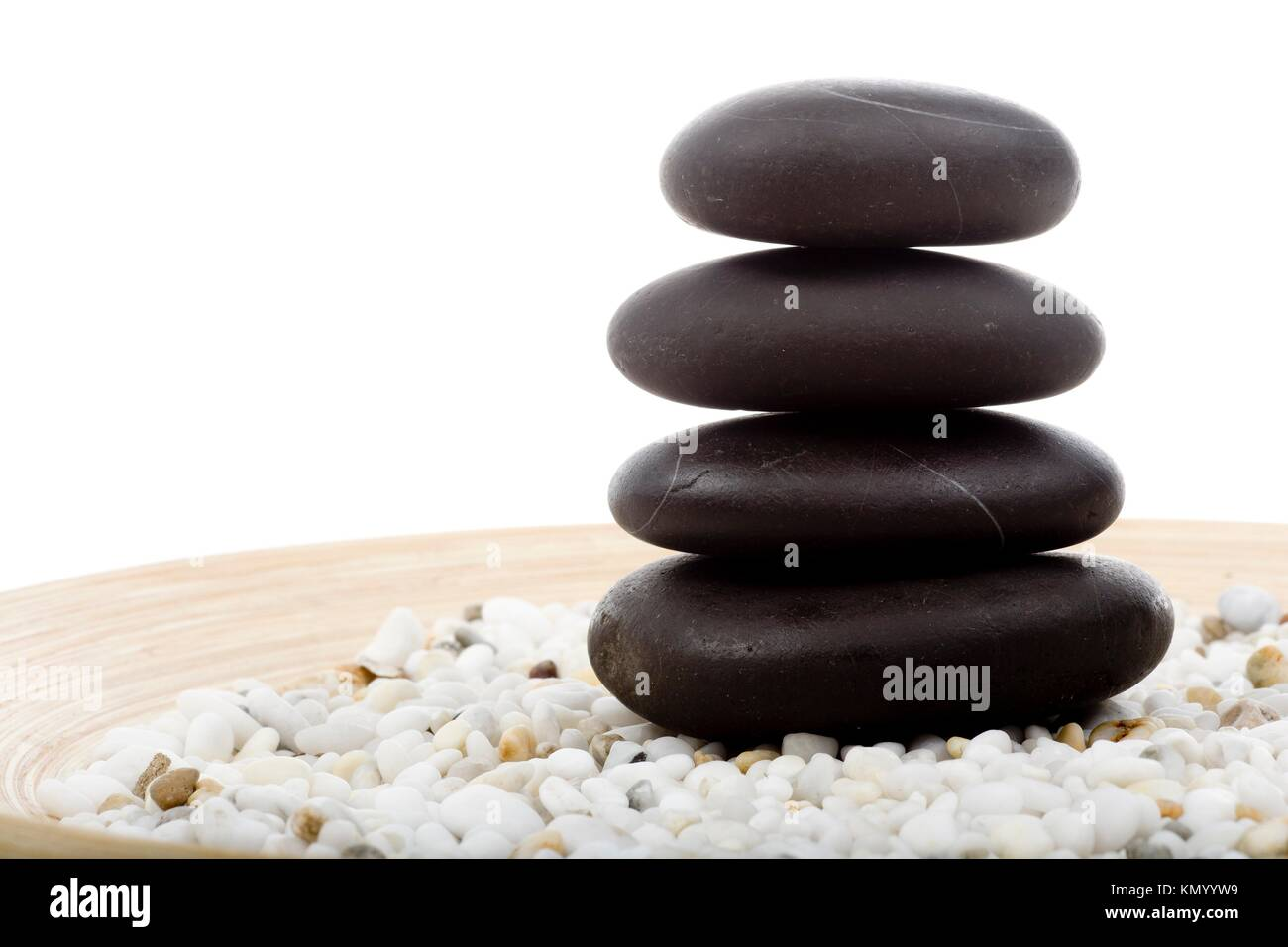 stone tower in the spa for stone therapy - Stock Image