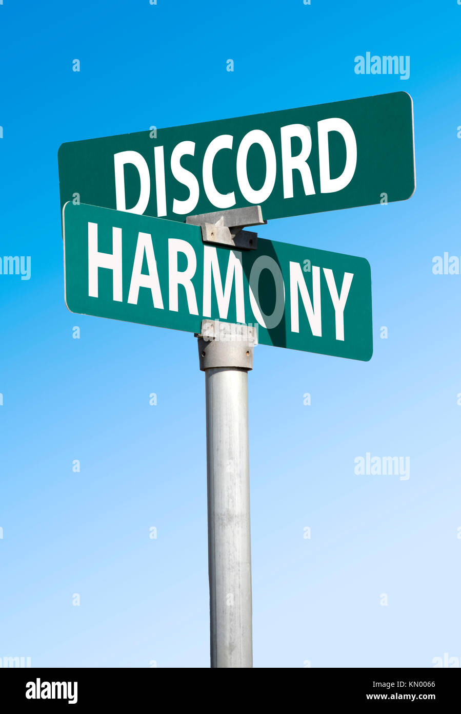 discord and harmony sign - Stock Image