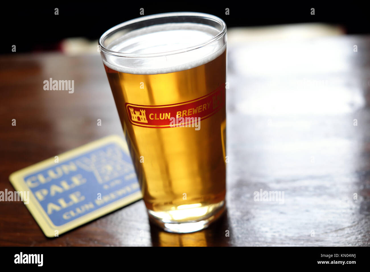 Clun Brewery produces local beer and ale in Clun, Shropshire, UK - Stock Image