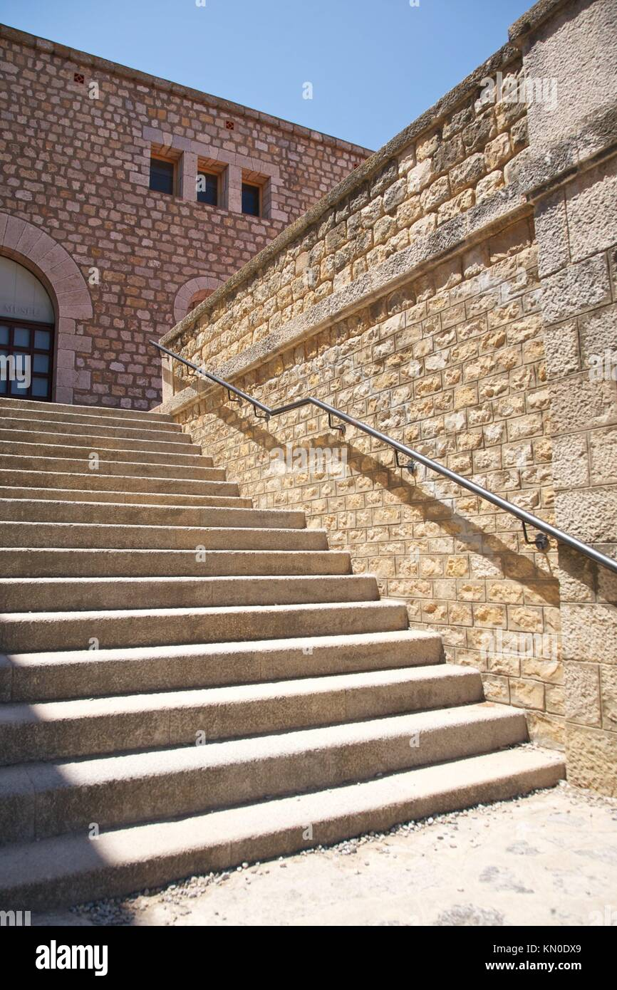 outside stairs at Empuries in Girona Catalonia Spain Stock Photo