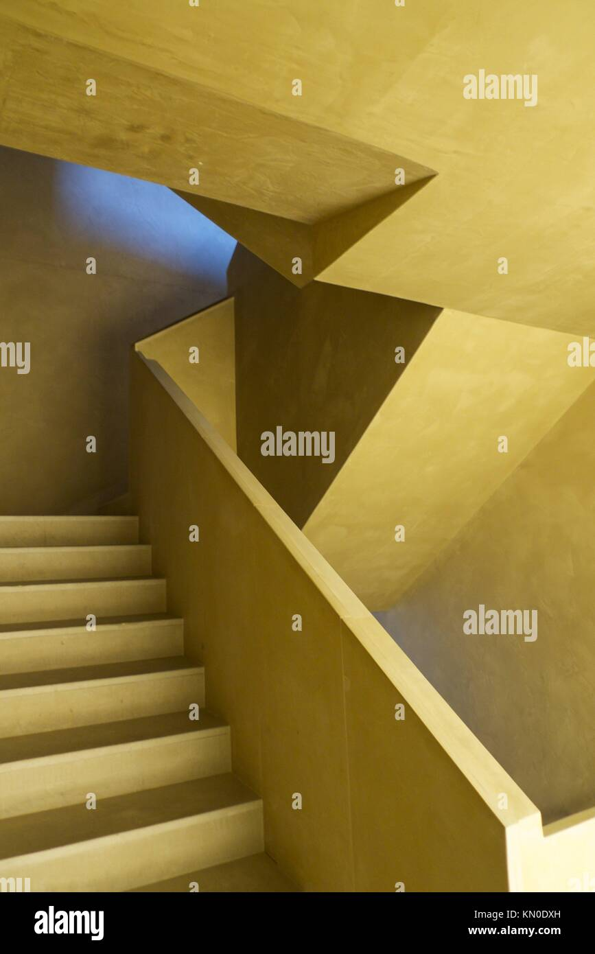 yellow design stairs and steps Stock Photo