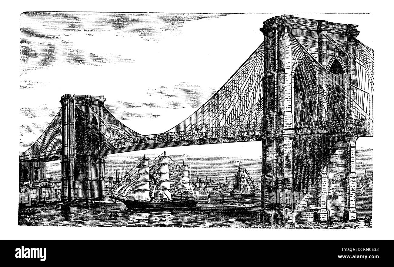 brooklyn bridge diagram new york brooklyn bridge drawing stock photos & new york ... h bridge circuit diagram