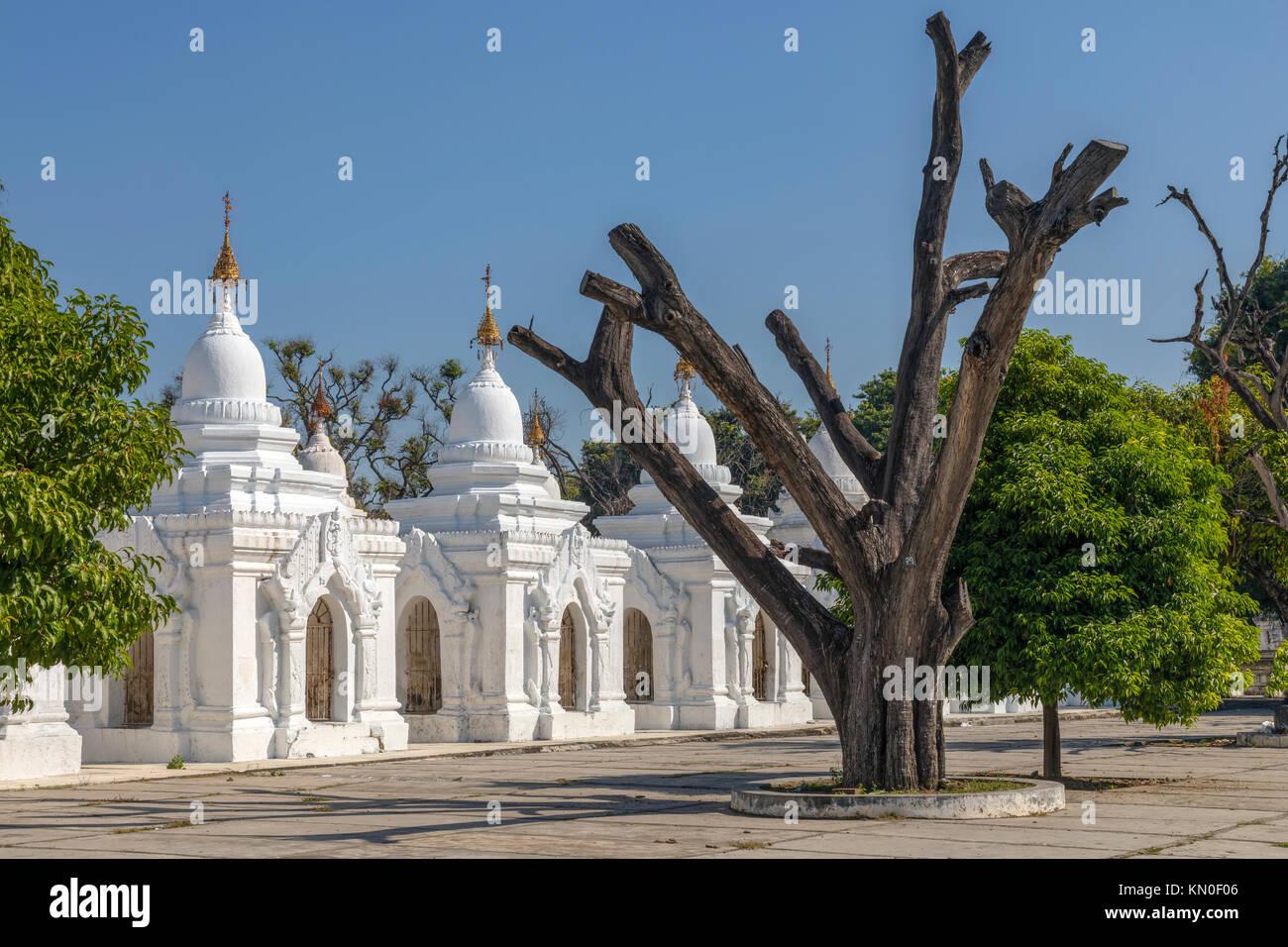 Kuthodaw Pagoda, Mandalay, Myanmar, Asia - Stock Image