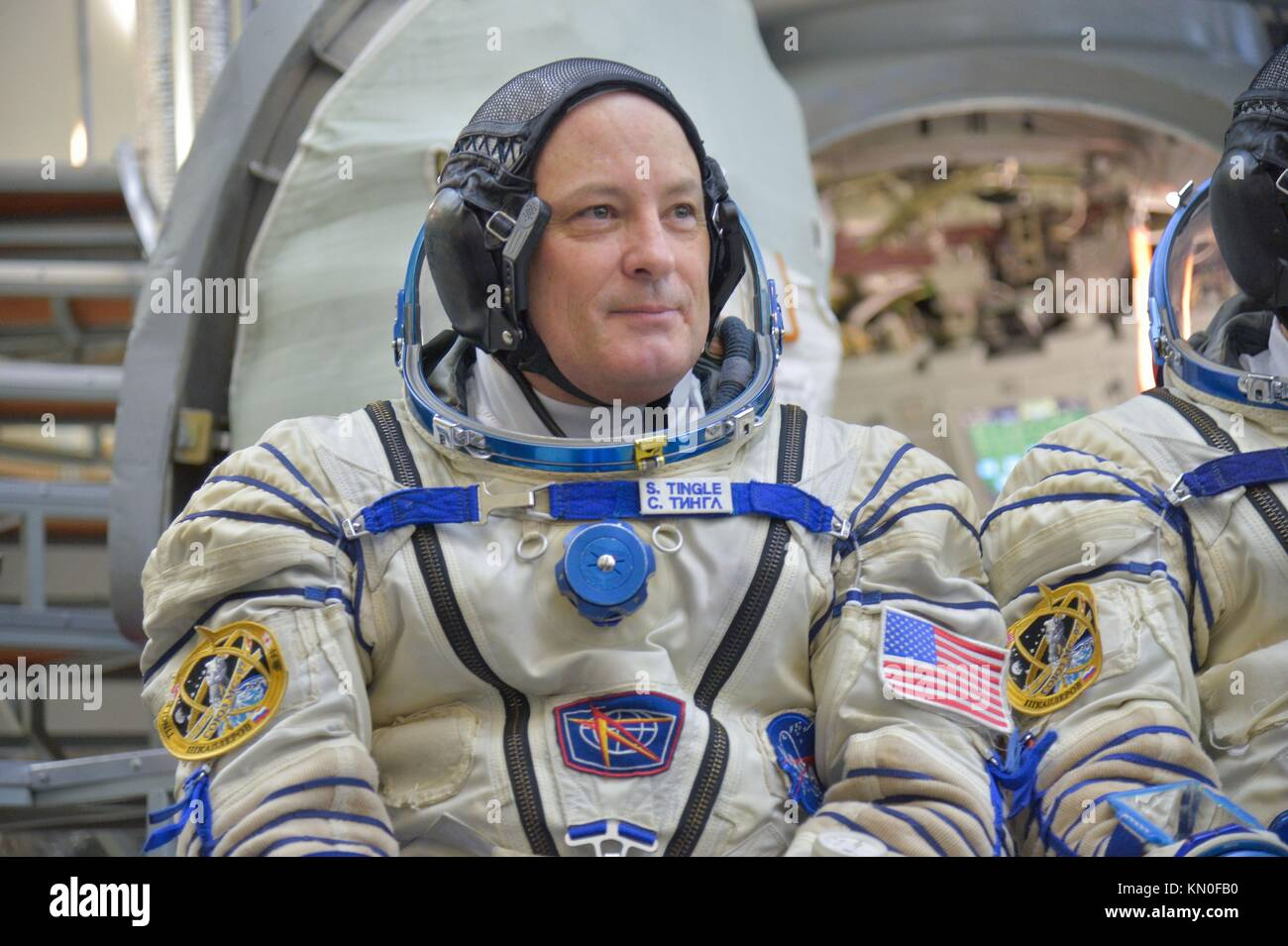 NASA International Space Station Expedition 54-55 prime crew member American astronaut Scott Tingle participates - Stock Image