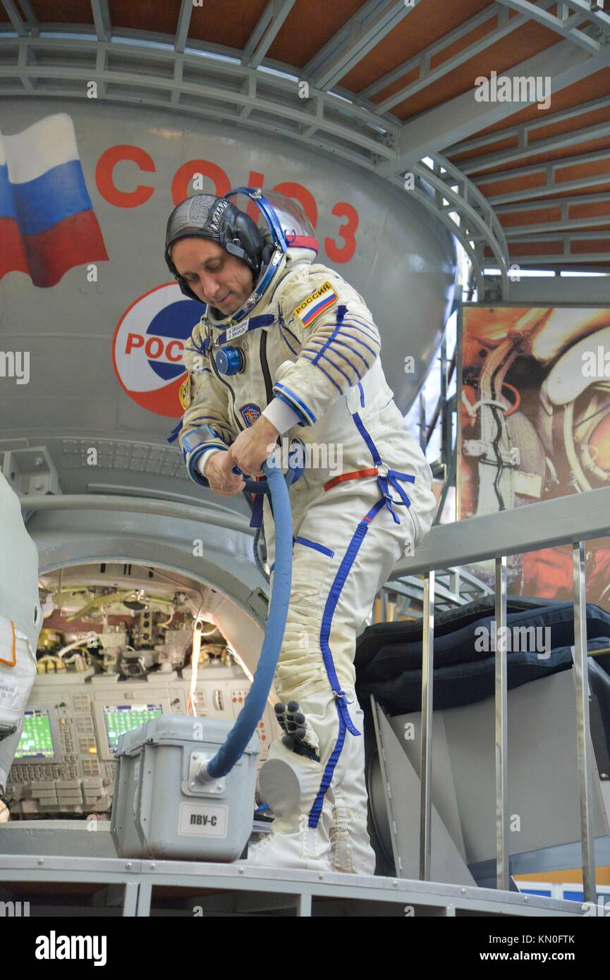 NASA International Space Station Expedition 54-55 prime crew member Russian cosmonaut Anton Shkaplerov of Roscosmos - Stock Image