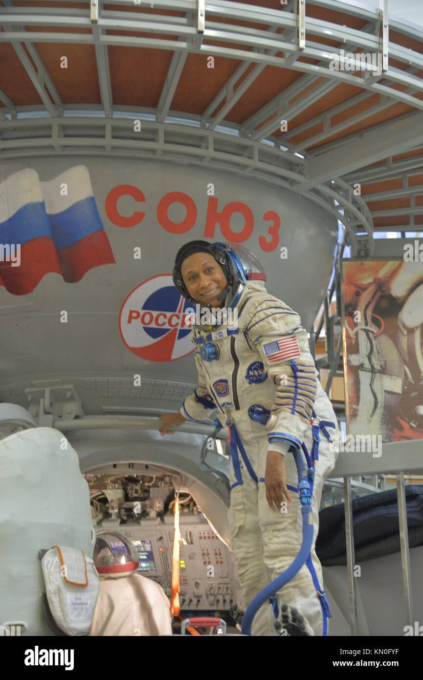 NASA International Space Station Expedition 54-55 backup crew member American astronaut Jeanette Epps boards a Soyuz - Stock Image
