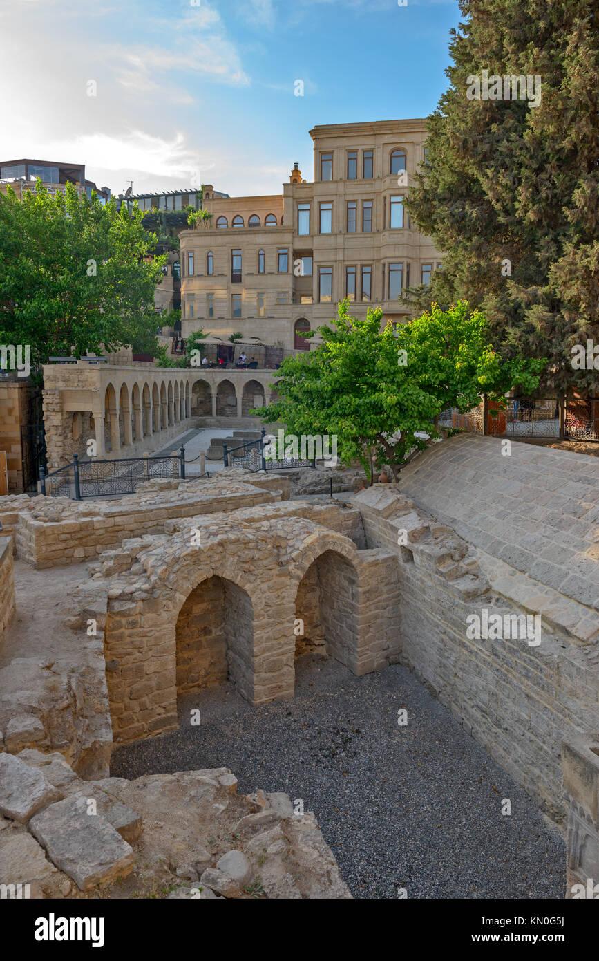 Old town in center of Baku city, Azerbaijan - Stock Image