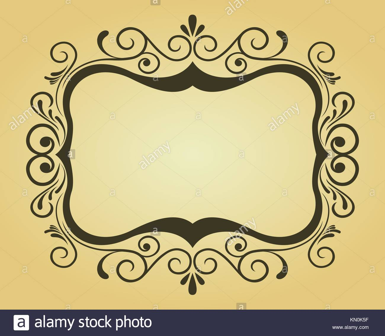 Vintage frame in victorian style for ornate and design Stock Photo ...