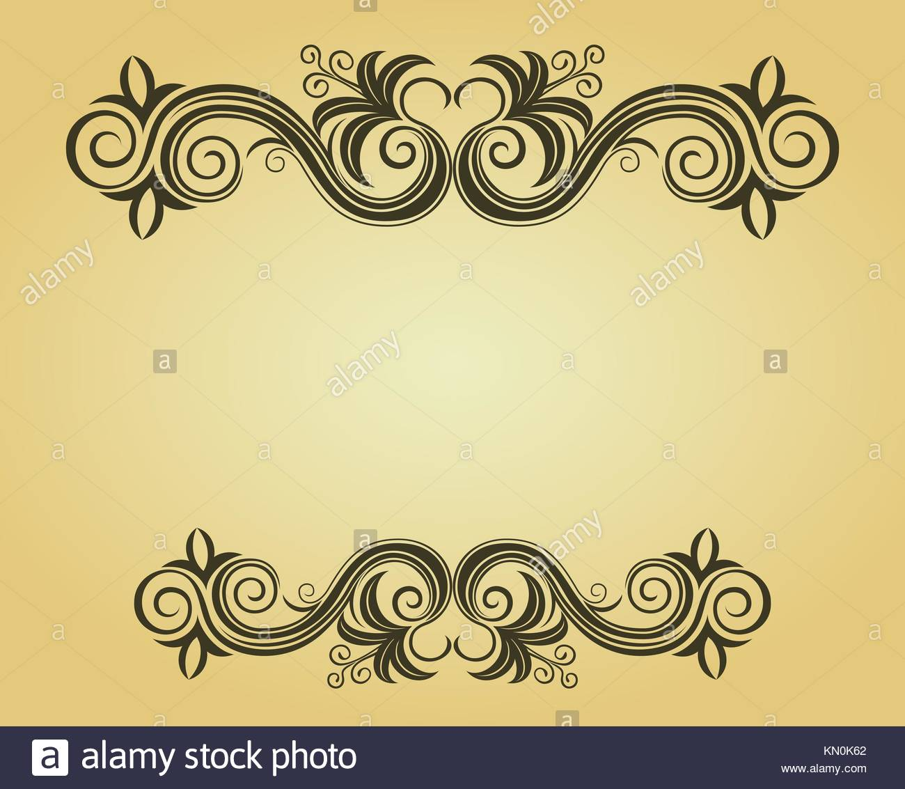 Vintage frame in victorian style for ornate and design - Stock Image