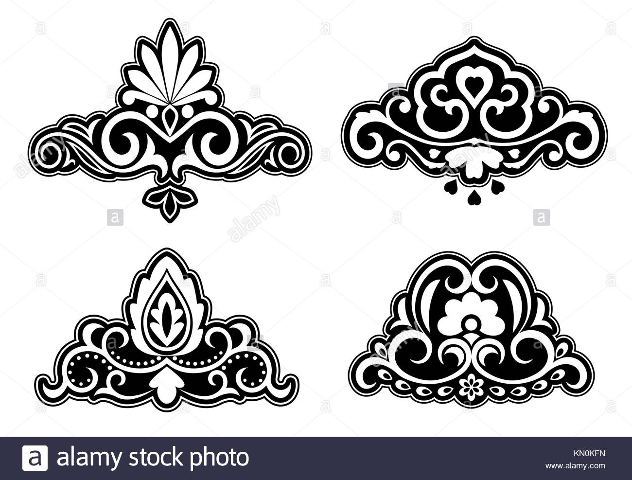 Flower Borders Black And White Stock Photos Images Alamy
