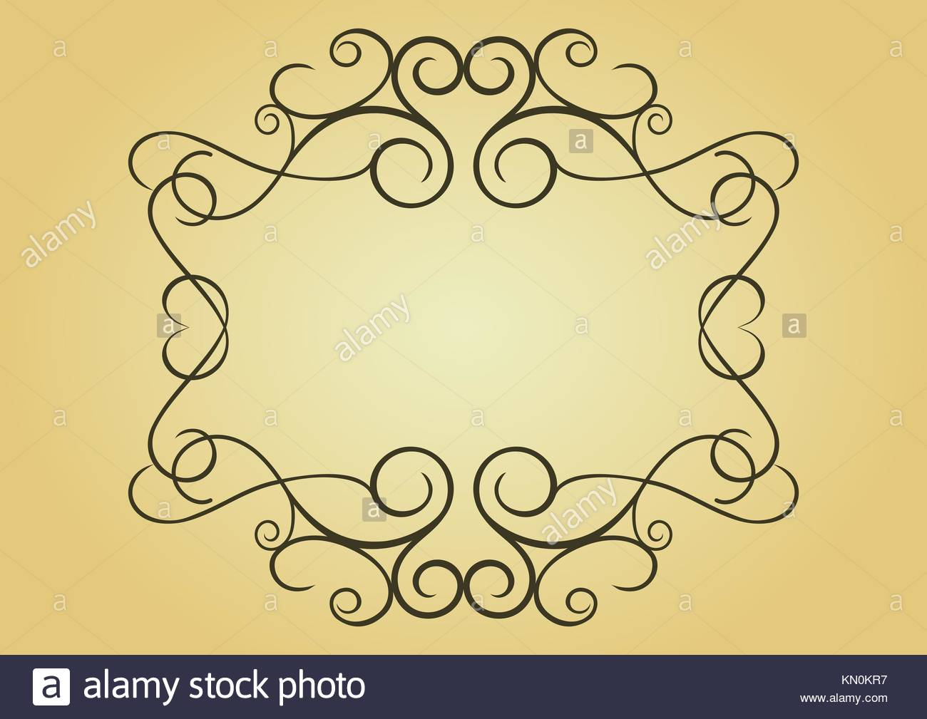 Swirl vintage frame for design as a background - Stock Image