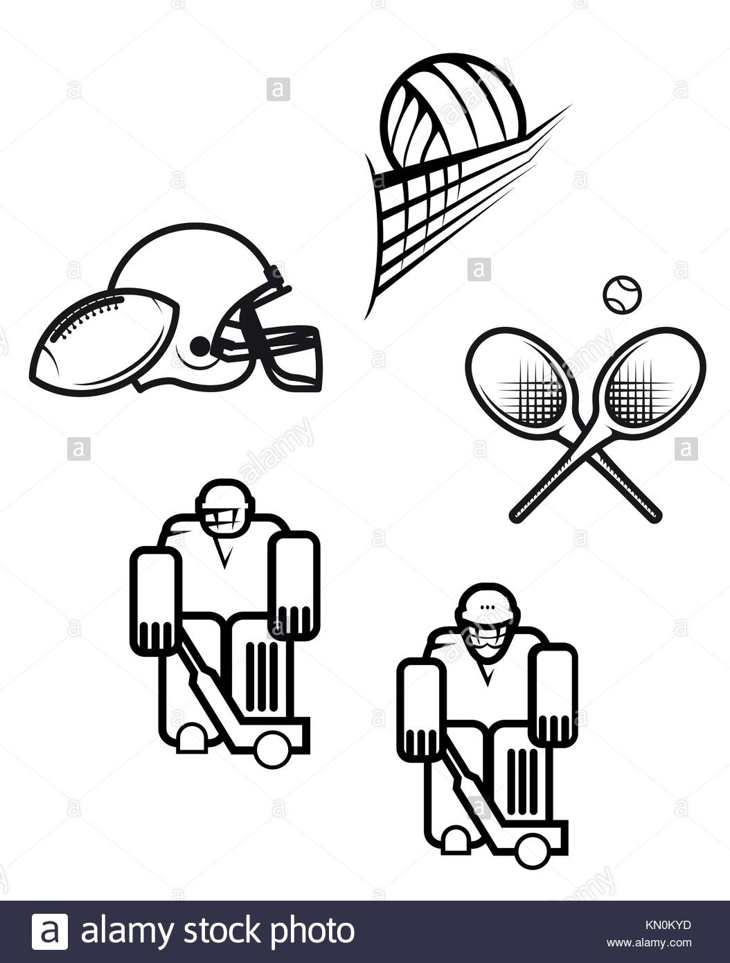 Sport Venue Black And White Stock Photos Images Alamy