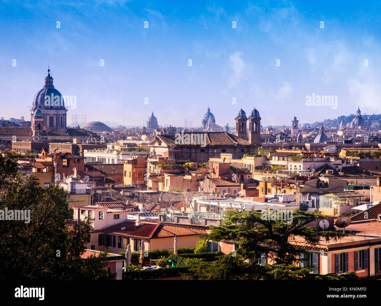 The skyline of Rome, Italy. - Stock Image