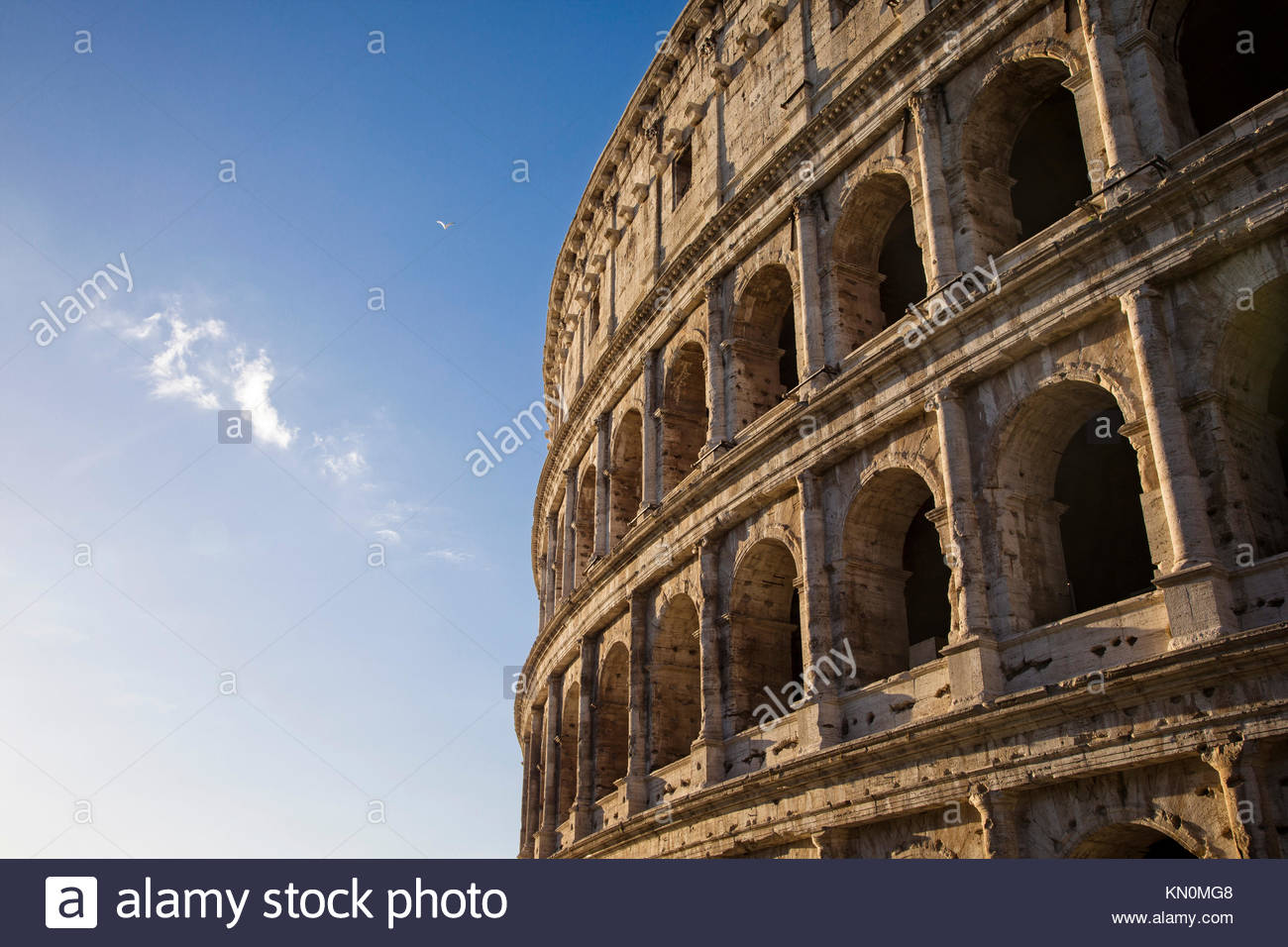 The Colosseum in Rome, Italy. - Stock Image