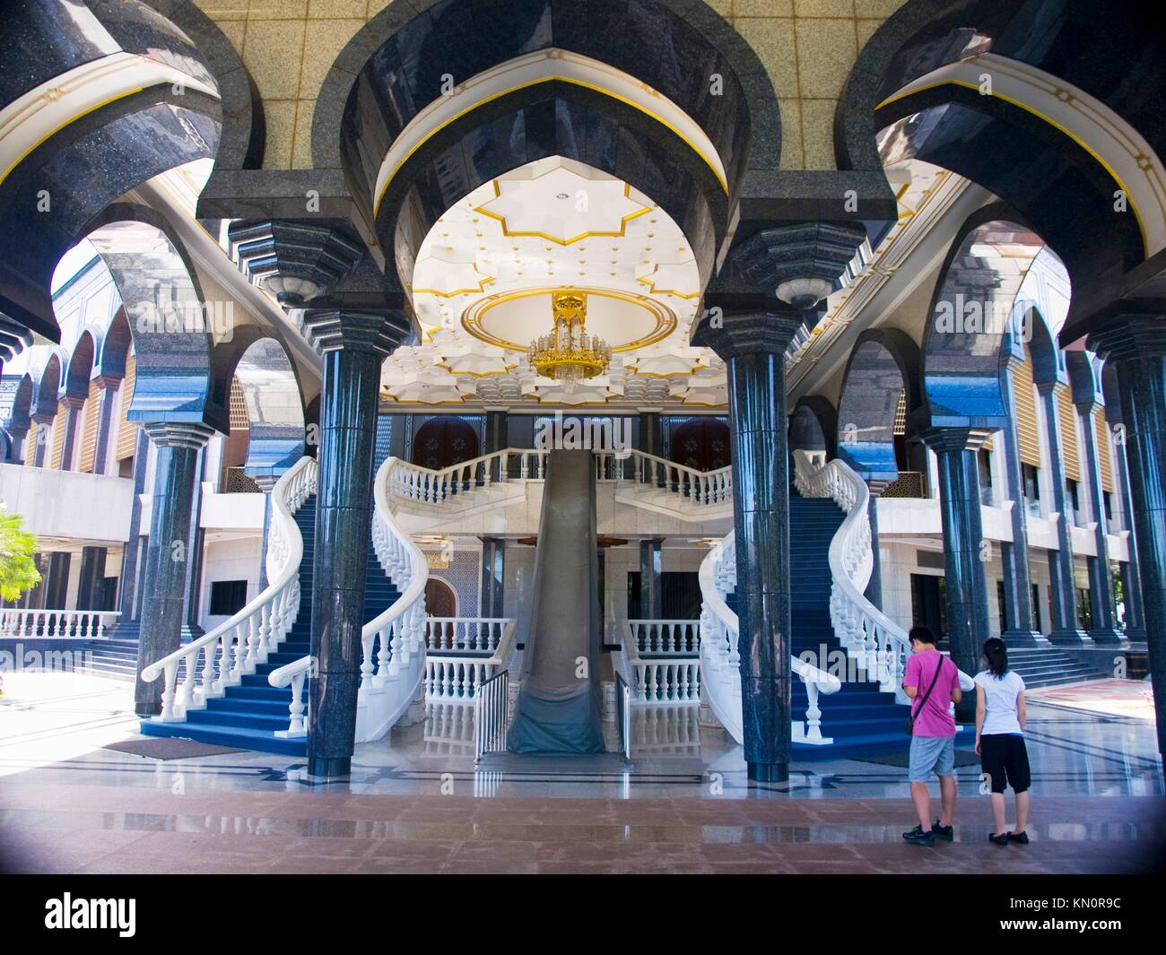 Brunei Stairs at Mosque - Stock Image