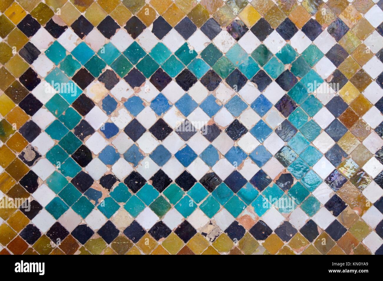 Tile Art Alhambra Palace Stock Photos & Tile Art Alhambra Palace ...