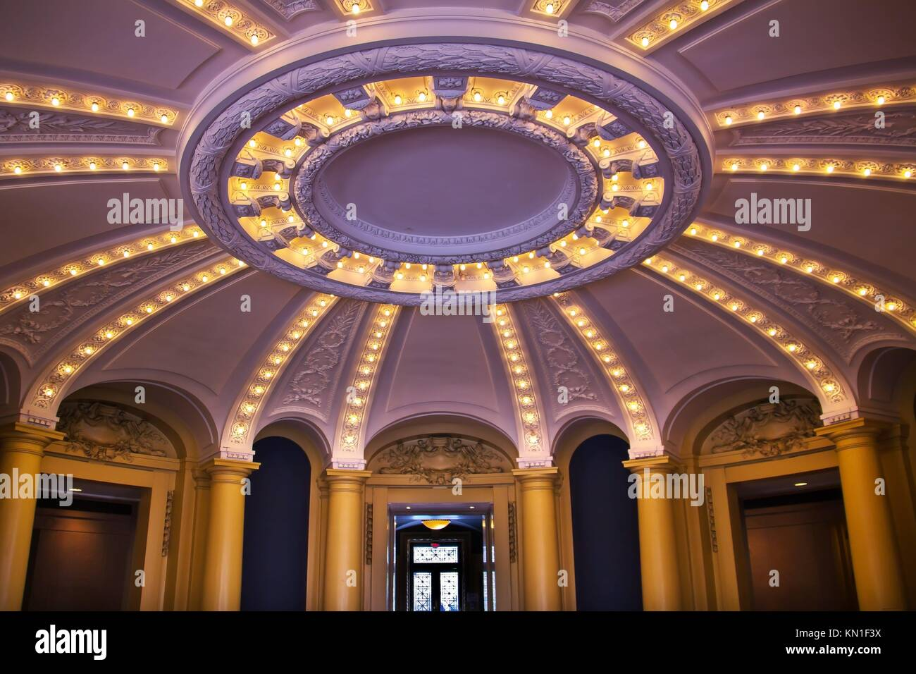 Victorian Foyer University : Victorian interior stock photos