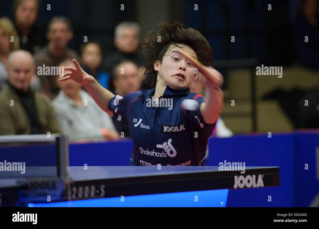 Germany. 10th Dec, 2017. Deutschland. 10th Dec, 2017. Masataka Morizono (Gruenwettersbach). GES/ Tischtennis/ 1. Stock Photo