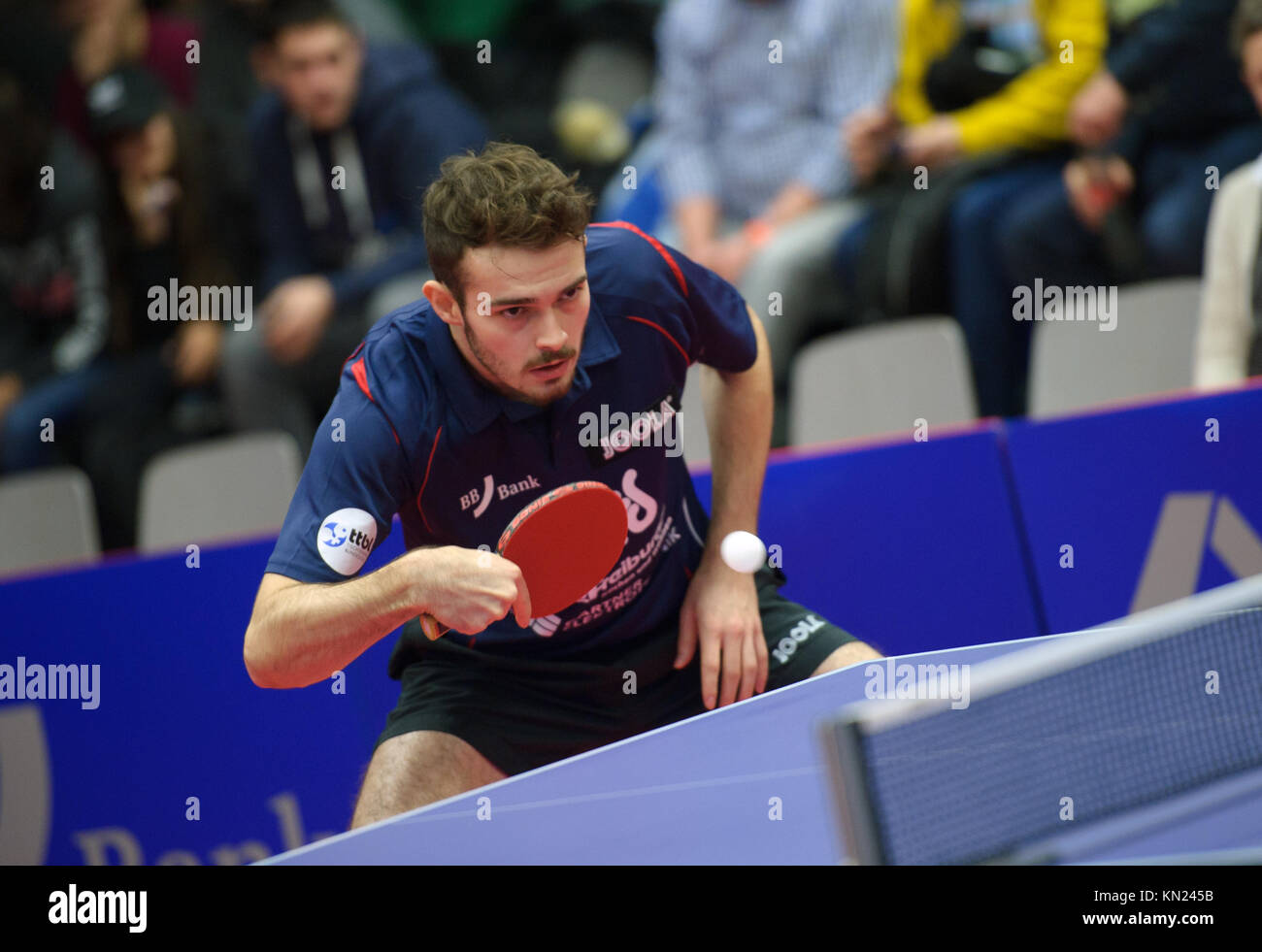 Germany. 10th Dec, 2017. Deutschland. 10th Dec, 2017. Sam Walker (Gruenwettersbach). GES/ Tischtennis/ 1. Bundesliga: - Stock Image