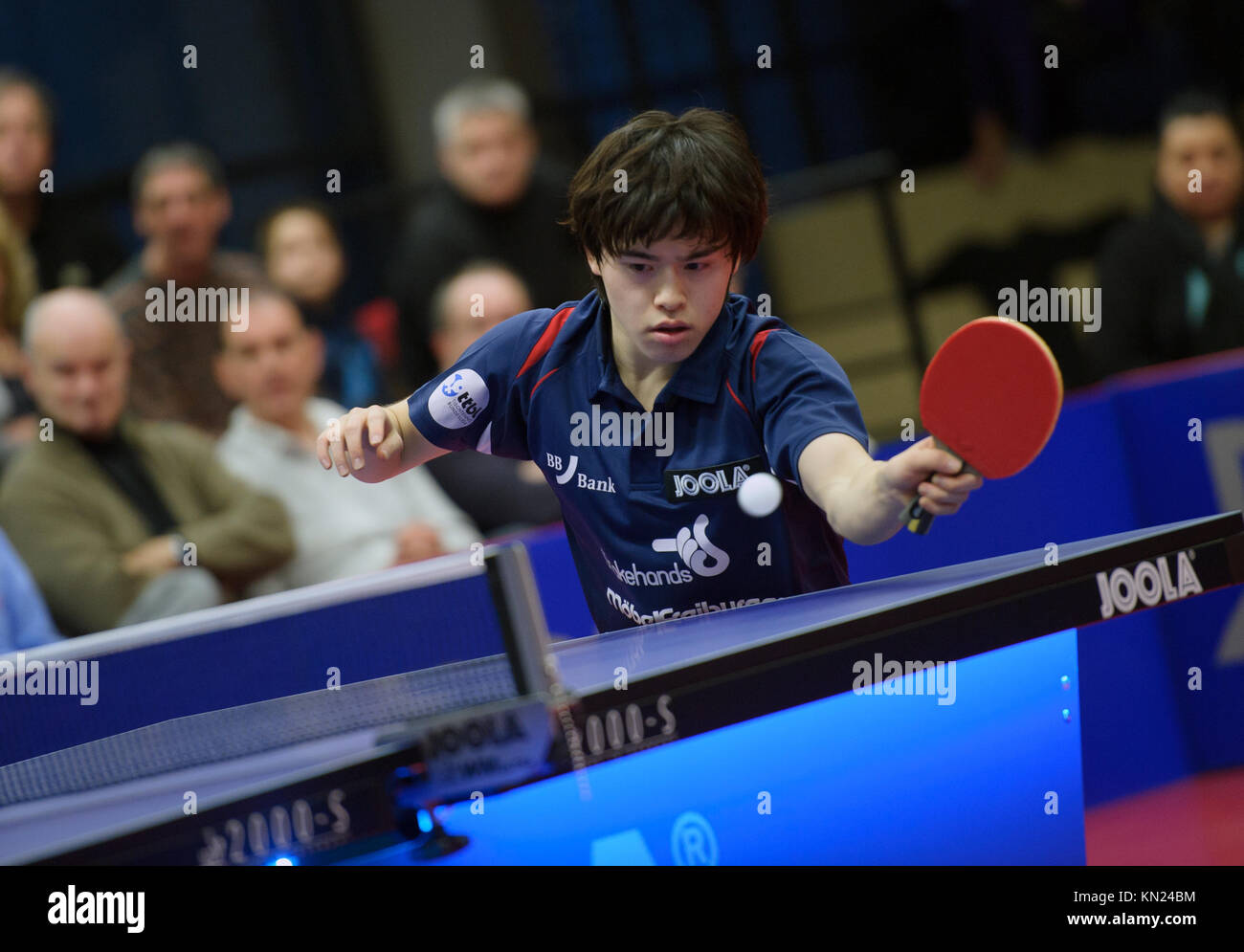 Germany. 10th Dec, 2017. Deutschland. 10th Dec, 2017. Masataka Morizono (Gruenwettersbach). GES/ Tischtennis/ 1. - Stock Image