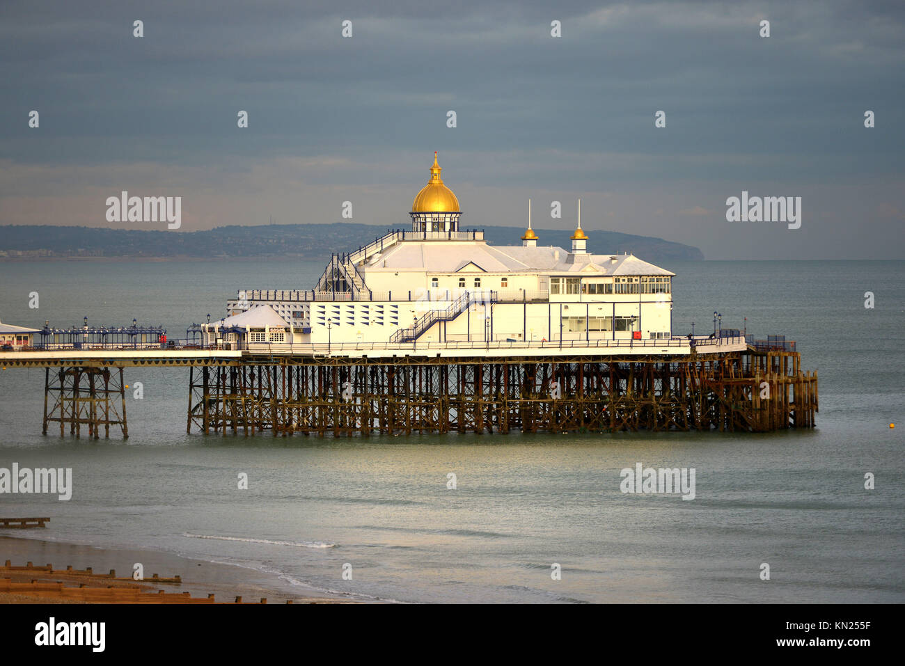 Eastbourne Pier at sunset - Stock Image