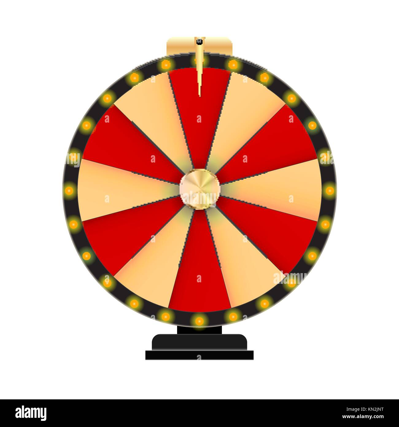 Wheel of Fortune, Lucky Icon with Place for Text. Vector Illustration - Stock Image