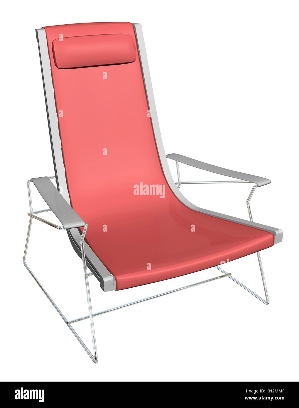 Fantastic Plastic Lounge Chair Red Metal Frame With Headrest Pabps2019 Chair Design Images Pabps2019Com