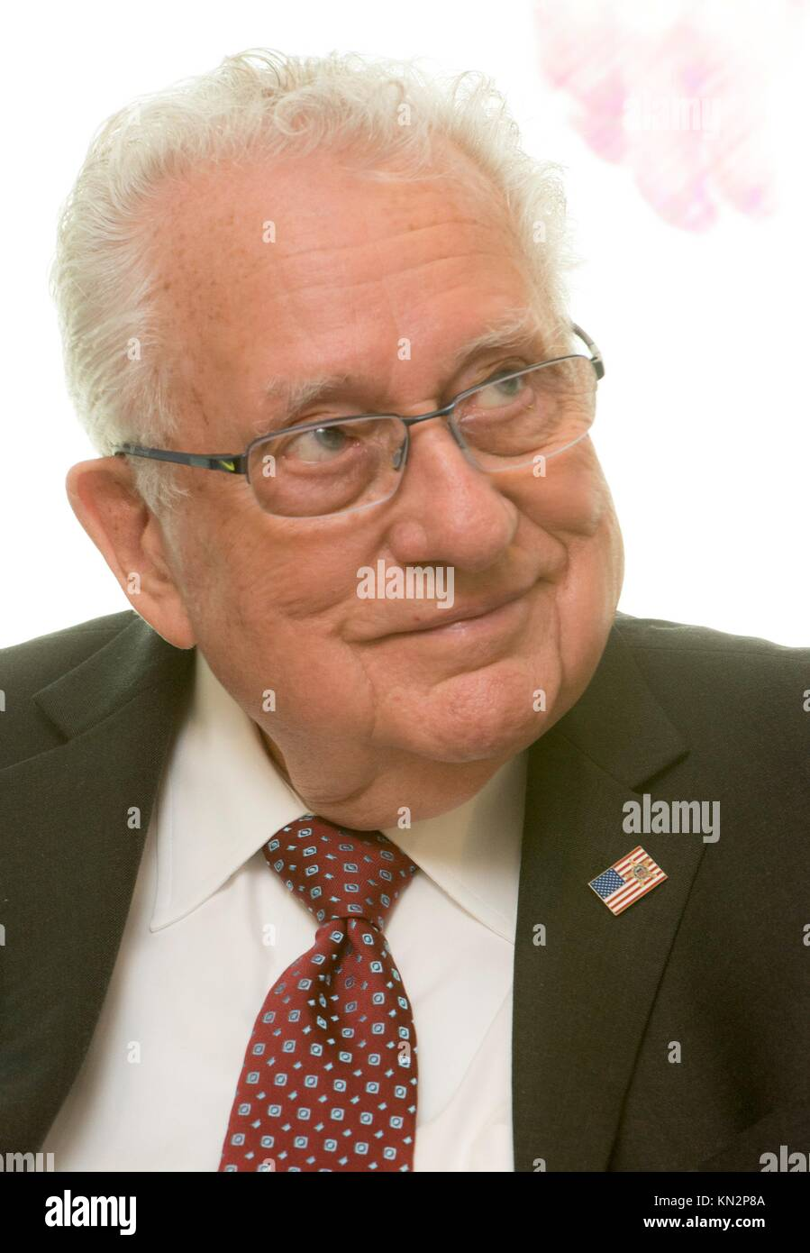 Former Secret Service agent Clint Hill speaks about his memoirs as a Secret Service agent for five U.S. Presidents - Stock Image
