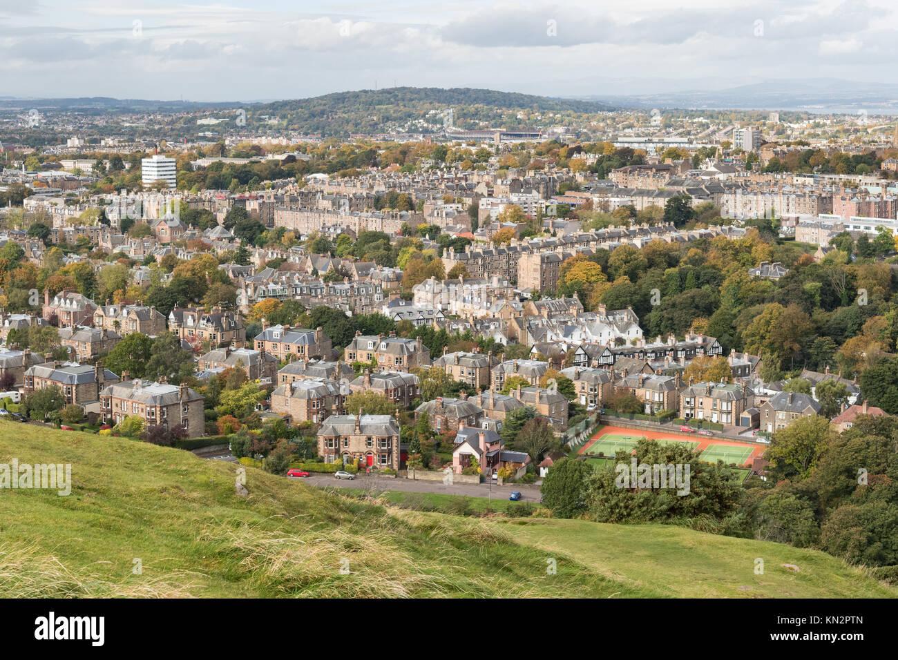 Morningside, and affluent area, South West Edinburgh, Scotland, UK - Stock Image