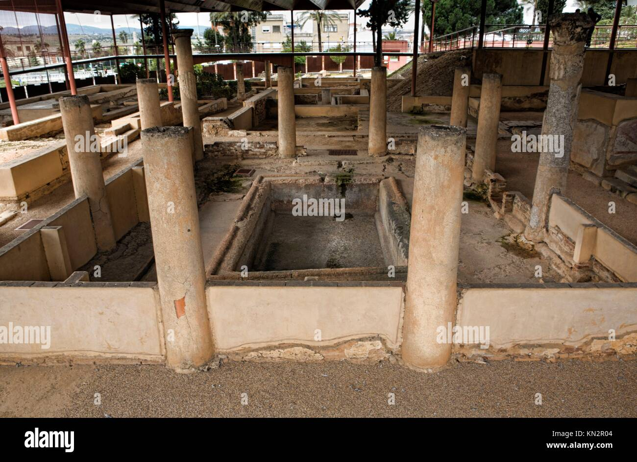 Peristyle of Mithraeum house, Merida, Spain - Stock Image