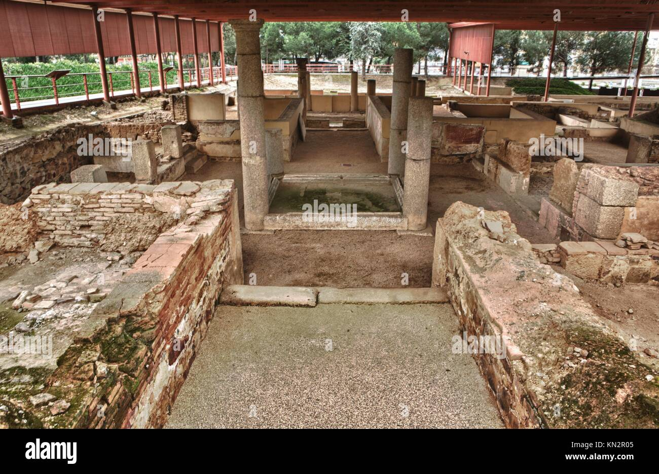 Lobby And Atrium of Mithraeum house, Merida, Spain - Stock Image