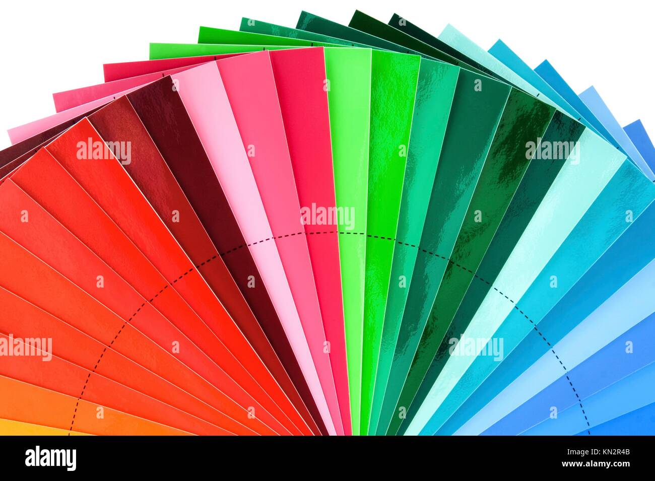 Color Swatch Palette for Printing Industry Isolated with Clipping Path - Stock Image