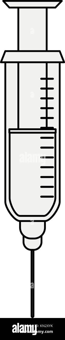 Syringe medical tool - Stock Image