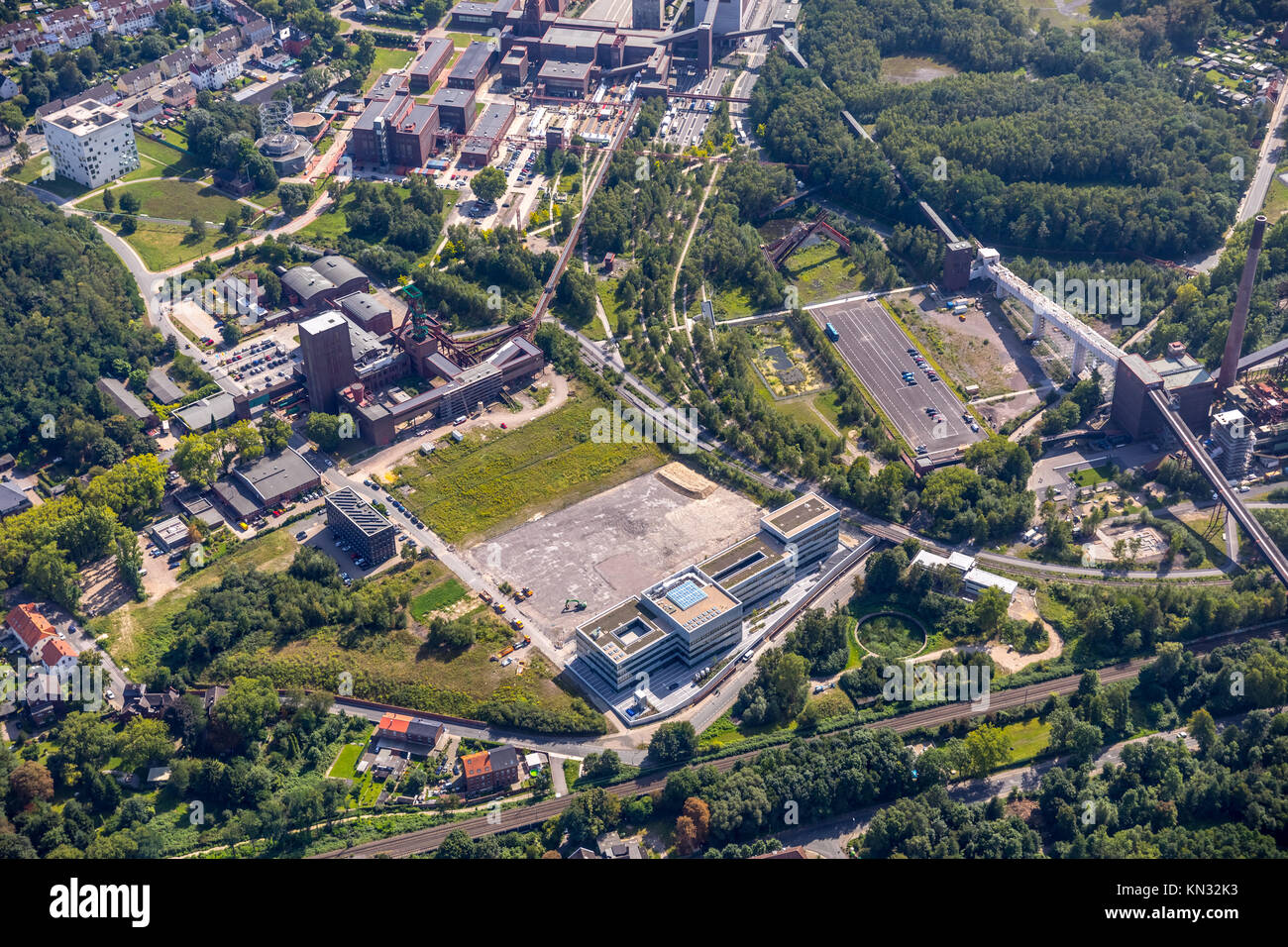 Zollverein, a World Heritage Site, Zollverein Essen-Katerberg, Essen, Nordrhein-Westfalen, Germany, aerial view, - Stock Image
