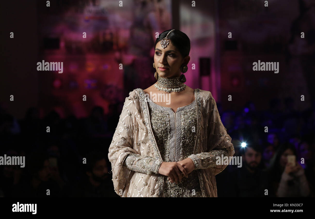 Pakistani models present creations of famous designers on the 2nd day of Pantene Hum Bridal Couture Week. (Photo - Stock Image